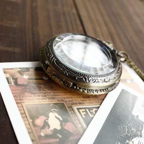 ZJZ fickur retro vintage stil fransk fickur hänge långt halsband 30 tum