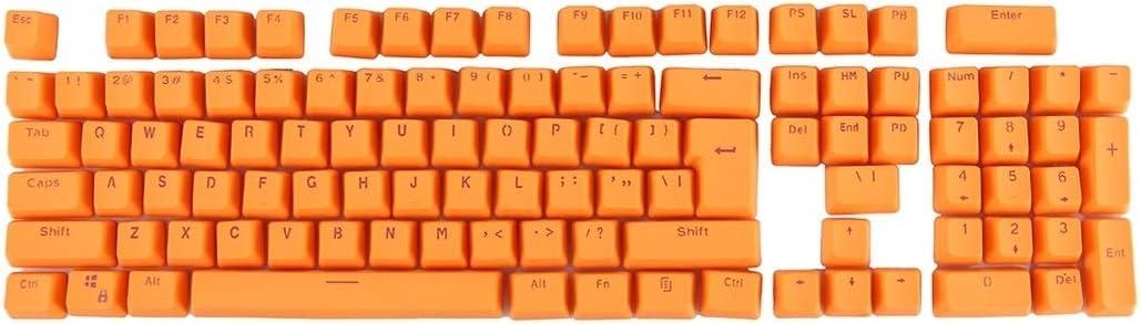 New Bluetooth Color : Pink Orange Wireless Mouse Keyboard Standard Layout Keyboard 104 Keys Double Shot PBT Backlit Keycaps for Mechanical Keyboard