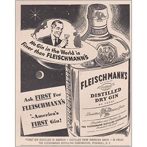 RelicPaper 1949 Fleischmanns Distilled Dry Gin: No Gin in The World, Fleischmann Distilling Print Ad