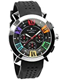 Salvatore Marra Men's Quartz Analog Chrono Calendar Black Watch
