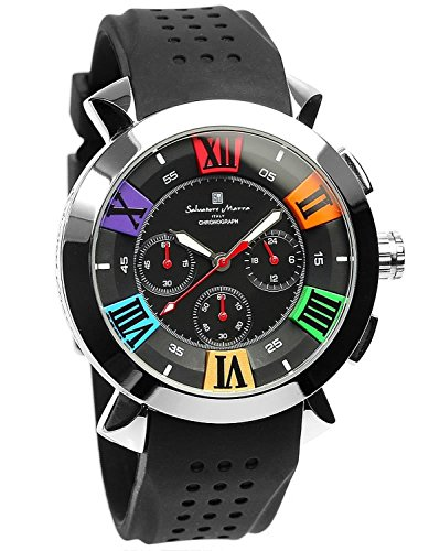 Salvatore Marra Men's Quartz Analog Chrono Calendar Black Watch by Salvatore Marra