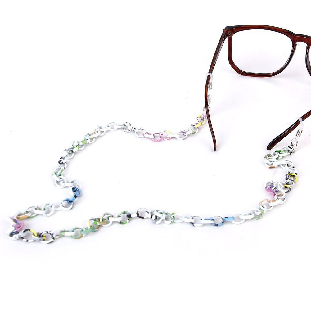 varios colores LEORX Monocular cadena 70 cm moda aluminio antideslizante para gafas de sol cadena correa