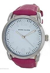 Anne Klein Women's White Dial Pink Leather Band Watch AK/1551WTPK