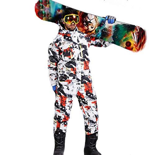 HANSHUO Hommes Ski Suit Hiver Imperméable Épais Chaud Snowboard Veste One Piece Combinaison Ski Sport Snowboard et Vêtements De Ski De Montagne