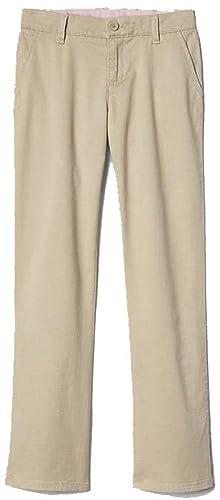 39c38c0e42 Amazon.com: GAP Kids Girls Khaki School Uniform Classic Chinos Pants 14  Slim: Clothing