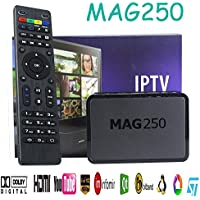 SaferCCTV MAG 250 IPTV Set Top Box With Remote Control Multimedia Player Internet TV IP HDTV 1080p Support USB Wifi VoD Middleware