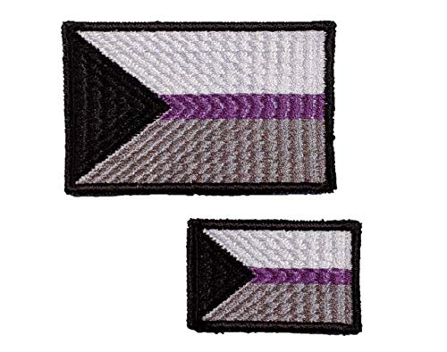 Expert choice for demisexual flag patch