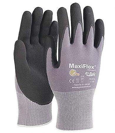 10 Paar LeiKaFlex schwarze Arbeitshandschuhe Gartenhandschuhe Montagehandschuhe