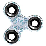 Fidget Toy EDC Hand Spinner Stress Reducer Relieve Anxiety [ Blue Dolphin Pattern ]
