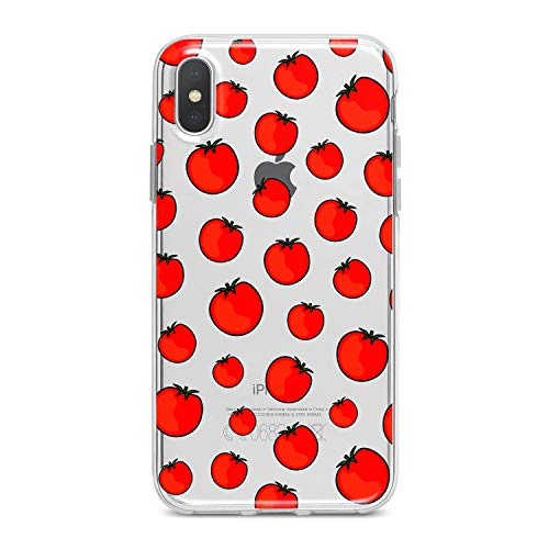 Lex Altern TPU Case for iPhone Apple Xs Max Xr 10 X 8+ 7 6s 6 SE 5s 5 Bright Tomatoes Clear Juicy Red Vegetable Awesome Silicone Cover Beautiful Print Protective Lightweight Flexible Girl Women Kids]()
