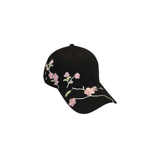 QYLOZ Plum Blossom Show Gorra de béisbol Mujer Visera Curva Cap ...