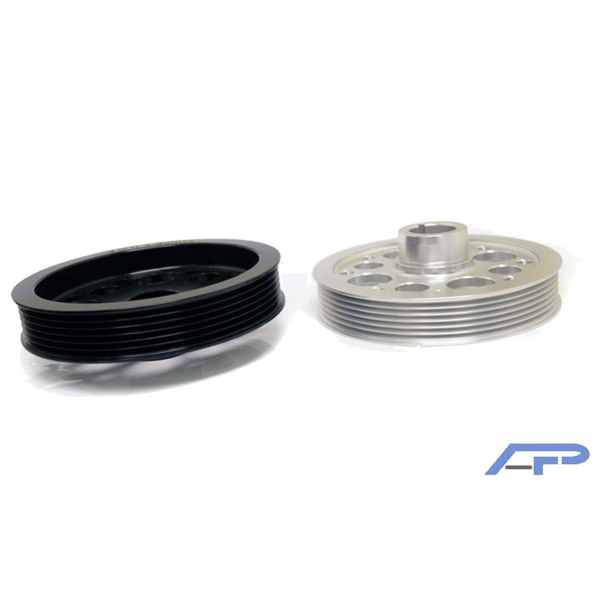 Agency Power (AP-CZ4A-130B) Crank Pulley for Mitsubishi, Black