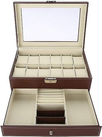 yuyte Caja De Almacenamiento con 12 Cinturones, Estuche Organizador para Gafas De Sol para Exhibición Y Colección: Amazon.es: Hogar