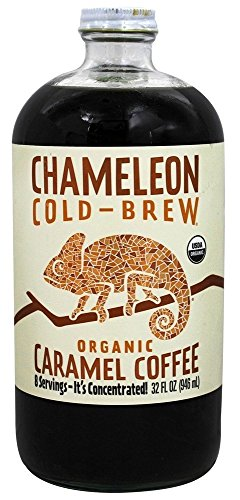 Caramel Organic Coffee - Chameleon Cold-Brew Organic Coffee Concentrate, Caramel, 32 oz
