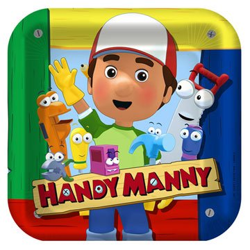 Handy Manny Lunch Plates 8ct (Handy Manny Birthday Supplies compare prices)