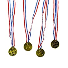 Dazzling Toys Star Winner Award Gold Medal Necklaces For Kids And Adults18 Pce Per Pack