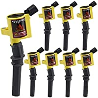 DG508 Ignition Coil 8 Pack High Energy Curved Boot...