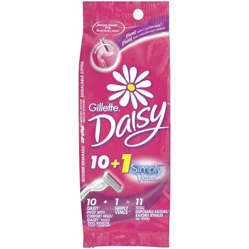 Gillette Daisy Disposable Women's Razor, 10 Count