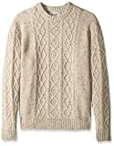 Original Penguin Men's Big and Tall Wool Alpaca Crew Sweater, Oatmeal, 2 XL-Extra Large