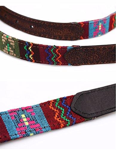 SAIBANGZI Ms Women All Seasons Belt Casual Jeans Belt Fine Fabric Fashion Decorative Belt Girlfriend Present Brown 82-92Cm by SAIBANGZI (Image #3)
