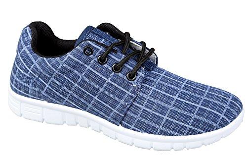 gibra - Zapatillas de tela para mujer Azul - azul oscuro