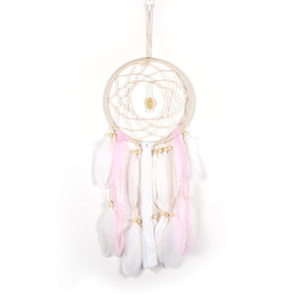 TTKJ Dream Catcher White Feather Pendant Home Decoration Crafts Girl Room Decoration