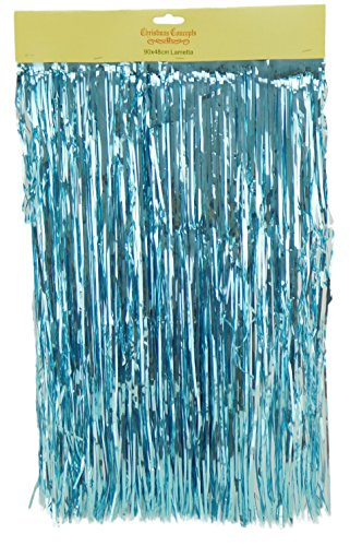 Shiny Ice Blue Lametta - Christmas Tree Decorations - Size: 90cm x 48cm