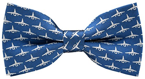 Carahere Boy's Handmade Pre-Tied Patterned Bow Ties aircraft pattern