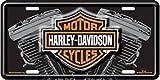 chroma graphics harley davidson - Harley Davidson V Twin Engine License Plate
