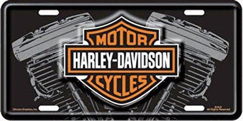 Harley Davidson V Twin Engine License Plate - Harley Davidson V-twin Engine