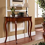 Cheap All Things Cedar HR116 Curved Console Table, Cherry