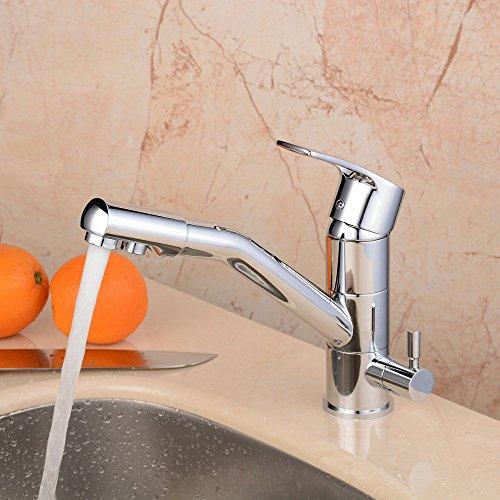 hiendure mitigeur de cuisine robinet de cuisine 3 voies eau chaude eau froide et eau. Black Bedroom Furniture Sets. Home Design Ideas