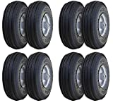 Marathon 2-Pack 4.10/3.50-4'' Pneumatic (Air Filled) Hand Truck/All Purpose Utility Tires on Wheels, 2.25'' Offset Hub, 5/8'' Bearings (4 X Pack of 2)