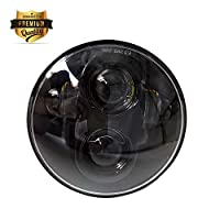 """Black 5.75"""" 5 3/4 Inch 40W Round LED Projector Daymaker Headlight Hi/Lo Beam Motorcycle Headlamp Light Bulb for Harley Davidson"""