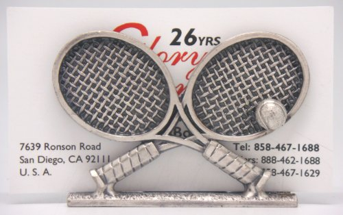 Tennis Business Cards - Name Card Holder - 2 Crossed Tennis Rackets (Item # 94)