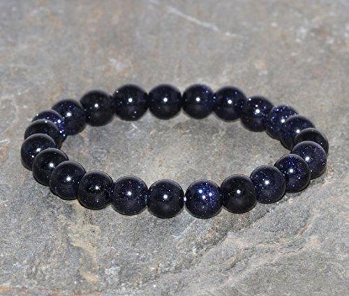 - Blue Goldstone Bracelet Handmade 8mm Natural Blue Gold Stone Beaded Bracelet Gemstone Bracelet Stack Bracelet Unisex Bracelet Gift Jewelry
