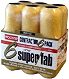 Wooster Brush R750-9 Super/Fab Roller Cover, 1/2-Inch Nap, 6-Pack, 9-Inch