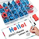 JONYJ Foam Magnetic Letters, Magnetic Alphabet Letters Board with Storage Box, 208 Pcs ABC Uppercase Lowercase Alphabet Magnets for Kids Spelling and Learning - Classroom & Home Education