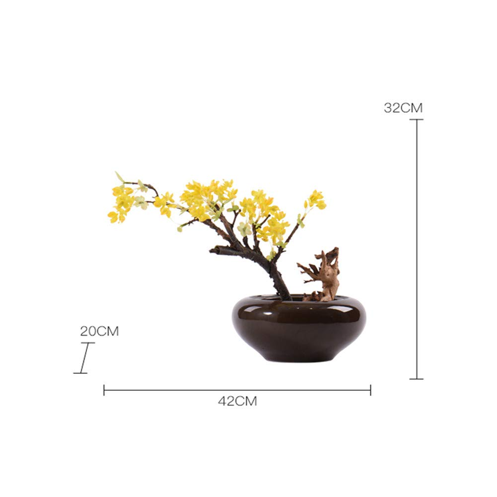 CITW Simple Art Yellow Fruit Tree Bonsai Bonsai Desktop Ornaments Modern Minimalist Home Furnishing OrnamentsOffice Gift by CITW (Image #7)