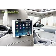 TUPELO Universal Car Back Seat Headrest Mount Holder Tablet Mount Holder with 360 Degree Adjustable Rotating Travel Kit For Apple iPad 2/ iPad 3/ iPad 4/ iPad Air/ iPad Mini/ iPad Mini2/ iPad Mini3/ Galaxy Note 10.1 and many more Car Headrest Mount