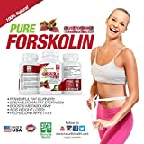Pure Forskolin Extract for Weight Loss 300mg with 40% Standardized Coleus Forskohlii Root Extract Natural Forskolin Appetite Suppressant Fat Burner Weight Loss Supplement for Men and Women.