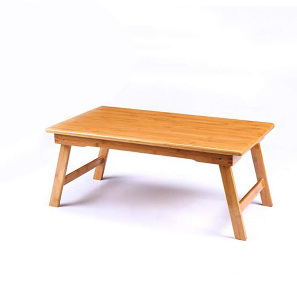 Escritorios HAIZHEN Mesa Ordenador portátil 100% Bambú Desayuno Plegable Bandeja de la Cama 6 tamaños Mesa Plegable (Color : Negro, Tamaño : 60 * 40cm): ...
