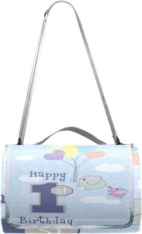XINGAKA Coperta da Picnic Tappetino Campeggio,Stampa di Compleanno Patchwork Festa,Giardino Spiaggia Impermeabile Anti Sabbia 6