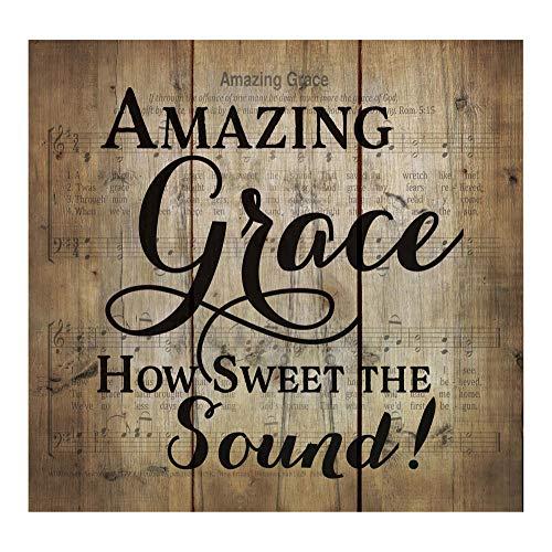 P. Graham Dunn Amazing Grace Old Fashion Hymn Sheet Music Design 10 x 11 Wood Pallet Wall Art Sign Plaque
