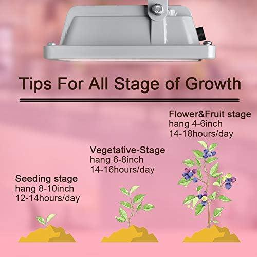 Full Spectrum LED Grow Light IP44 Waterproof Flood Light Plug and Play Plant ...
