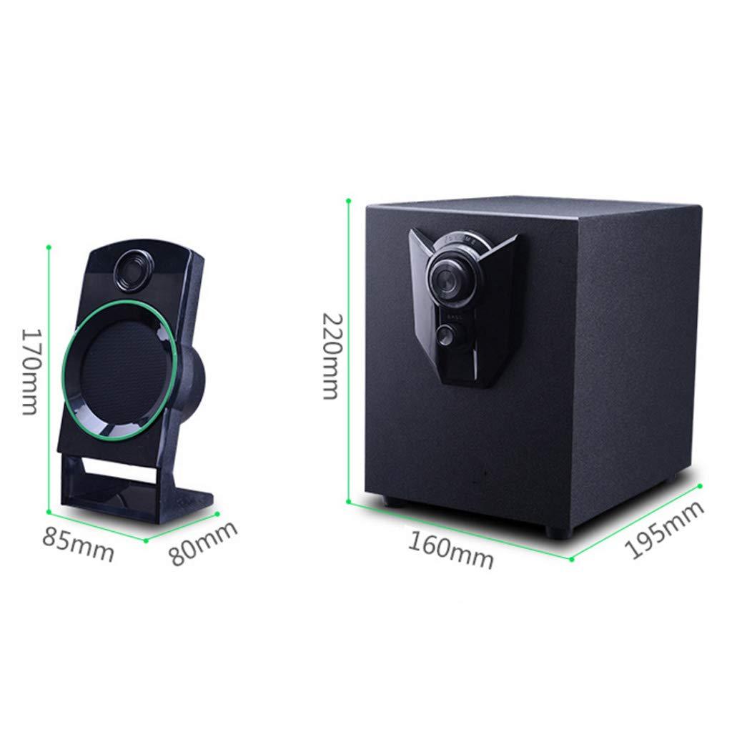 LF Stores Ordenador Teléfono móvil Ordenador portátil TV Altavoz Subwoofer de Audio Audio Activo 2.1 Escritorio Reproductor de música Negro: Amazon.es: ...