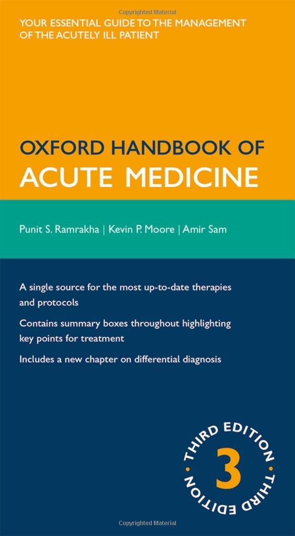 Oxford Handbook of Acute Medicine (Oxford Handbooks)