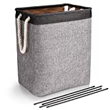 DYD Laundry Basket with Handles Linen Hampers for Laundry Storage Baskets Built-in Lining with Detachable Brackets...