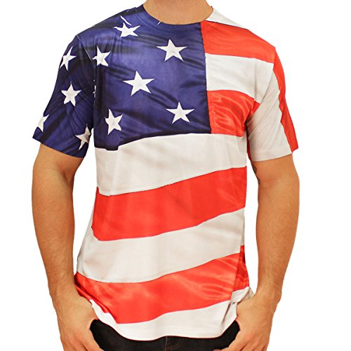 American Flag Wrap Around Sublimated T-shirt