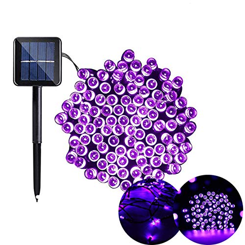 Purple Solar String Lights Christmas Lights Outdoor 200Led Solar Powered 72foot Twinkle Fairy Lights Ambiance Sensor Control for Home Indoor Decor Xmas Tree Patio Garden Wedding Party Landscape Lawn]()